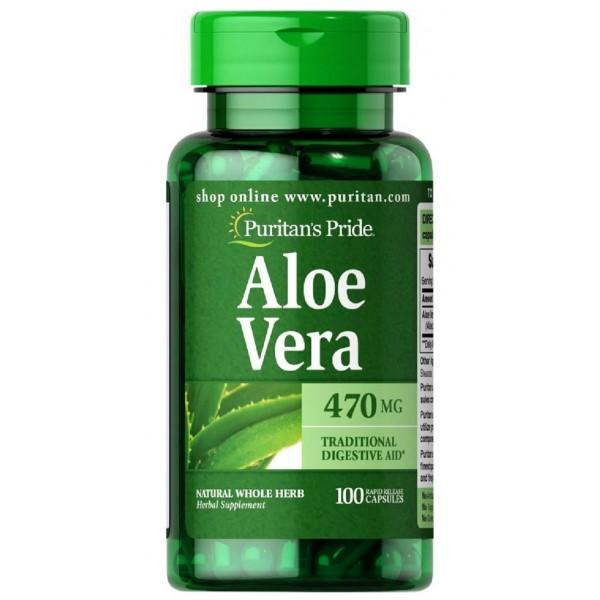 Алое вера, екстракт, Aloe Vera Extract, Puritan's Pride, 25 мг, 100 гелевих капсул