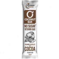 Батончик кокосовий з какао у шоколадній глазурі 40г