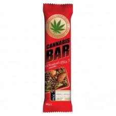 Батончик-мюслі з горіховим міксом+насіння канабісу 40г