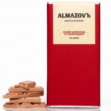 Білий шоколад з полуницею| 0% цукру 80 г Almazovъ