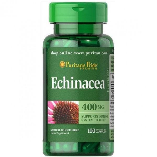 Комплекс ехінацеї, Echinacea Complex, Puritan's Pride, 400 мг, 100 капсул