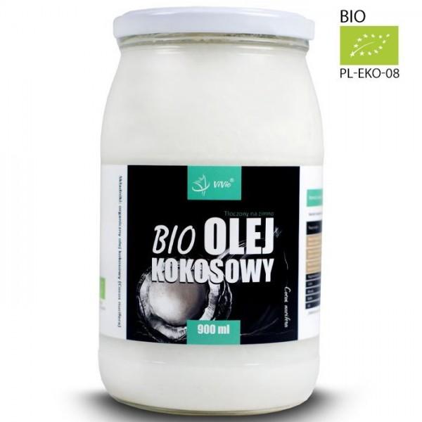 Органічна кокосова олія 900мл Extra Virgin Vivio