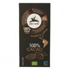 Органічний чорний шоколад 100% 50г Alce Nero