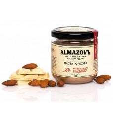 Паста горіхова мигдаль з білим шоколадом 200 г Almazovъ
