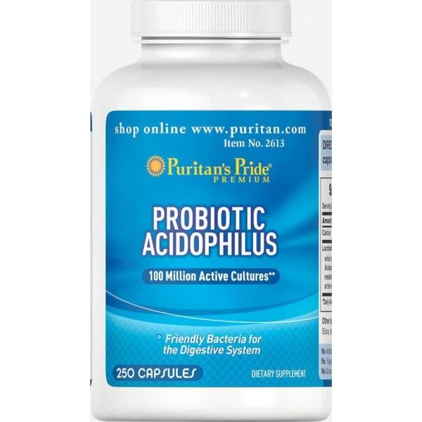 Пробіотичний ацедофильный комплекс, Probiotic Acidophilus Complex, Puritan's Pride, 250 капсул