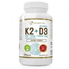 Вітамін K2 100мкг+D3 50мкг 120 табл. Progress Labs