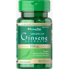 Екстракт женьшеню 500 мг (American Ginseng Extract), Puritan's Pride - США