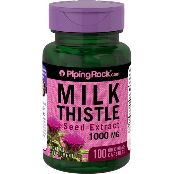 Екстракт розторопші 1000мг (Milk Thistle Seed Extract), Piping Rock - США