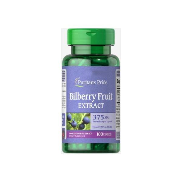 Екстракт чорниці 10:1 375 мг (Bilberry Extract), Puritan's Pride - США