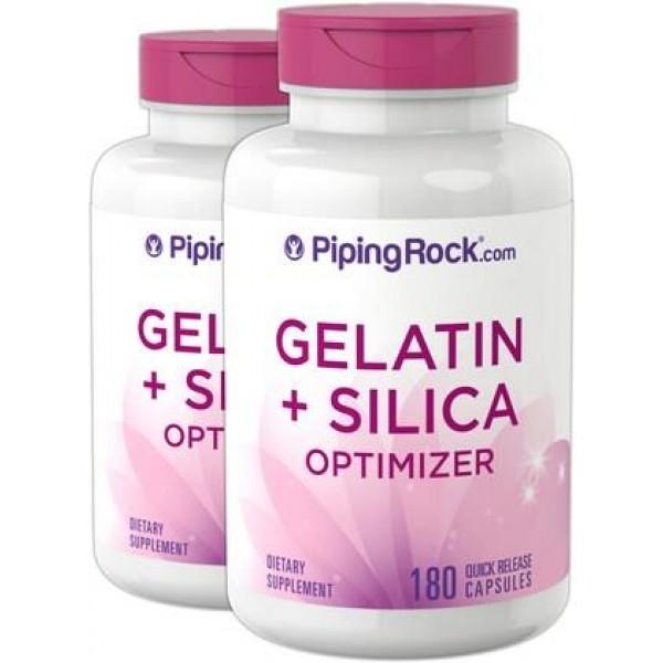 Желатин + силіконовий оптимізатор 540мг  (Gelatin Beef plus Silicon Optimizer), Piping Rock - США