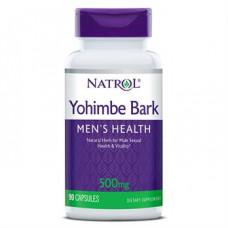 Йохімбе (стимулятор тестостерону) 500 мг (Yohimbe Bark), Natrol - США