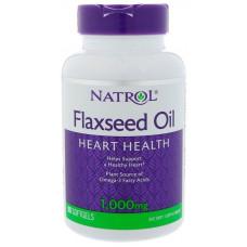 Лляна олія Омега-3 200мг (Flaxseed Oil), Natrol - США