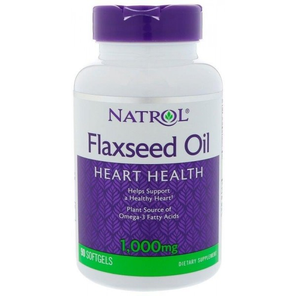 Лляна олія Омега-3 200мг (Flaxseed Oil), Natrol - США
