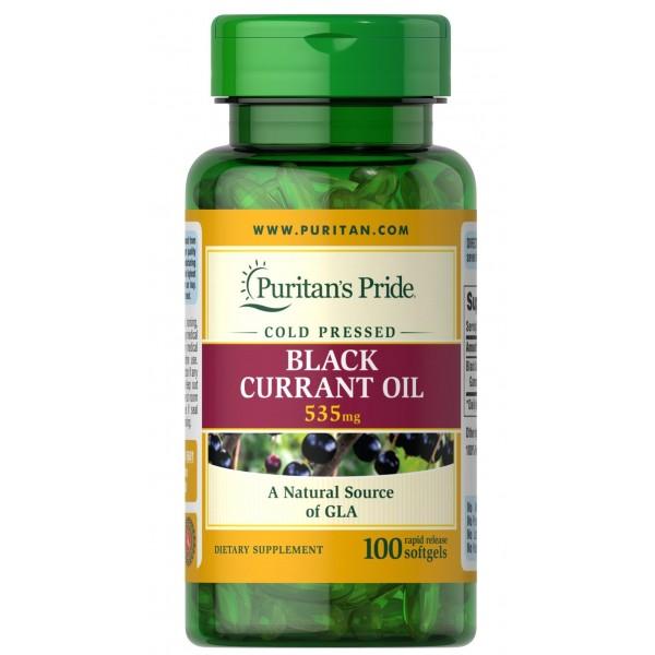 Масло чорної смородини 535мг (Black Currant Oil) , Puritan's Pride - США