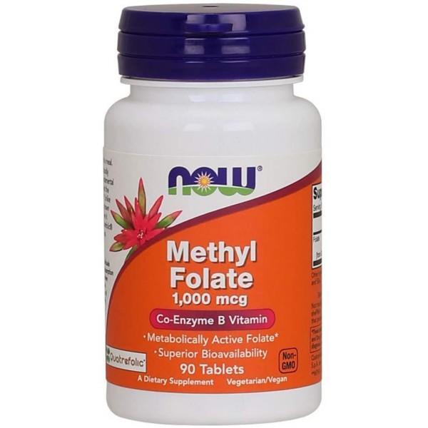 Метилфолат 1000 мкг (Methyl Folate), Now - США