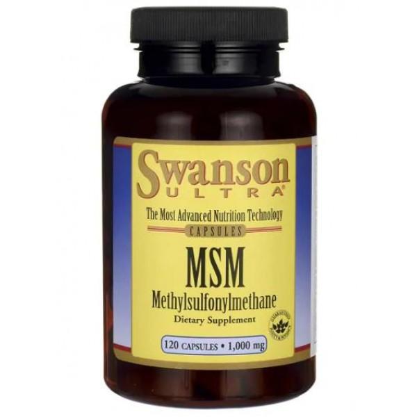 МСМ для суглобів та зв'язок 1000 мг (Ultra MSM), Swanson - США