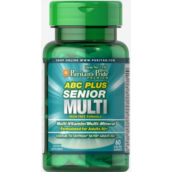 Мультивітаміни 50+ (ABC Plus Senior Multivitamin Multi-Mineral Formula), Puritan's Pride - США