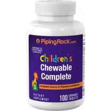 Мультивітаміни для дітей (Children's Complete Daily), Piping Rock - США