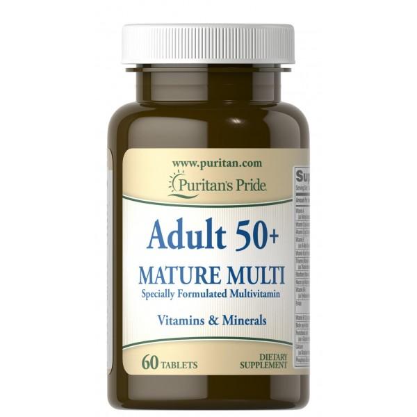Мультивітаміни 50+ (Adult 50+ Mature Multivitamin), Puritan's Pride - США