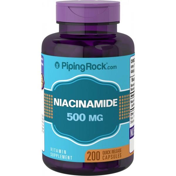 Ніацинамід 500мг (Niacinamide B-3), Piping Rock - США