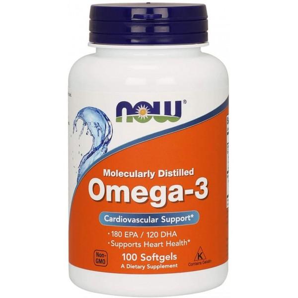 Омега 3 1000мг (Omega 3), Now - США