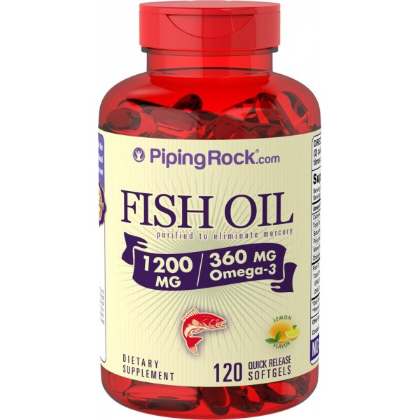 Омега 3 1200мг (Omega-3 Fish Oil), Piping Rock - США
