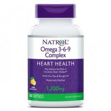 Омега 3-6-9 1200 мг (Omega-3 Fish Oil Heart Health), Natrol - США