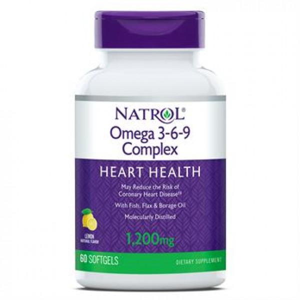 Омега 3-6-9 1200 мг (Omega-3 Fish Oil Heart Health), Natrol - США