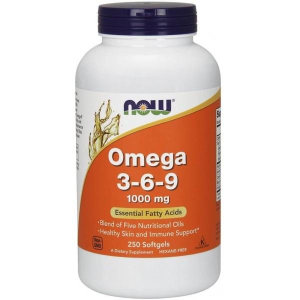 Омега 3-6-9 1000мг (Omega-3-6-9), Now - США