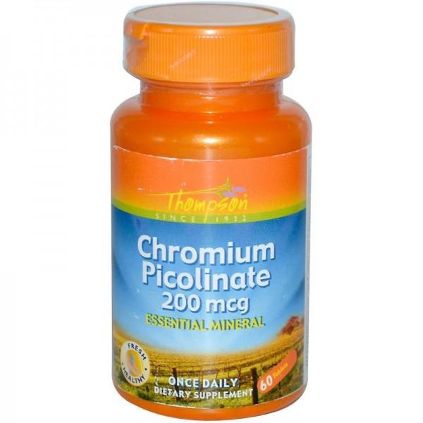 Піколінат хрому 200мкг (Chromium Picolinate), Thompson - США
