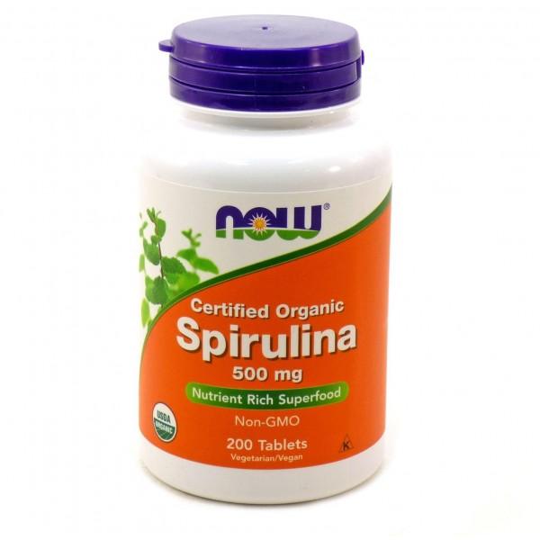 Спіруліна 500 мг (Spirulina), Now - США