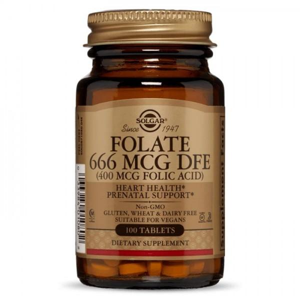 Фолієва кислота 400 мкг, 800мкг (Folic Acid), Solgar - США
