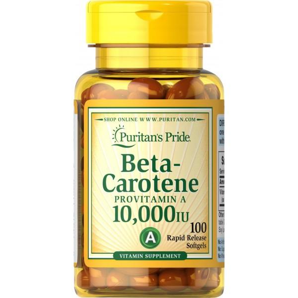 Бета-Каротин 10 000МО 25 000МО (Beta-Carotene) , Puritan's Pride - США