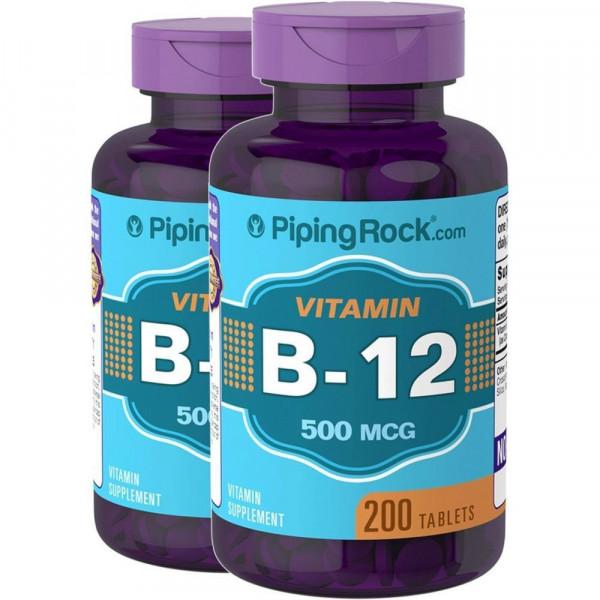 Вітамін B12 500 мкг (В12) , Piping Rock - США