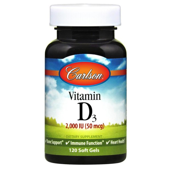 Вітамін D3 (Vitamin D3 50мкг), Carlson Labs - США