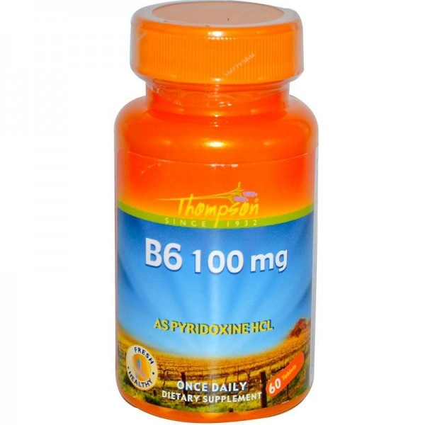 Вітамін В6 100мг (B6), Thompson - США