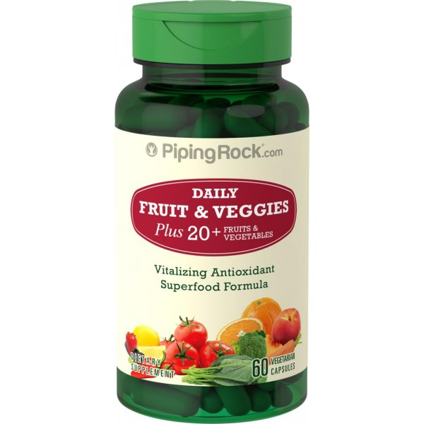Вітаміни (фрукти+овочі) (Super Fruits and Veggies), Piping Rock - США