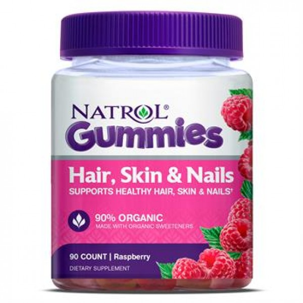 Вітаміни для шкіри, волосся й нігтів (Gummies Hair, Skin & Nails), Natrol - США