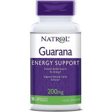Гуарана 200мг (Guarana), Natrol - США