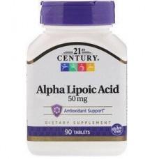 Альфа-ліпоєва кислота, Alpha Lipoic Acid, 21st Century, 50 мг, 90 таблеток
