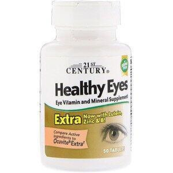 Вітаміни для очей, Healthy Eyes, 21st Century, 50 таблеток
