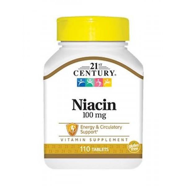 Вітамін В3, Niacin, 21st Century, 100 мг, 110 таблеток