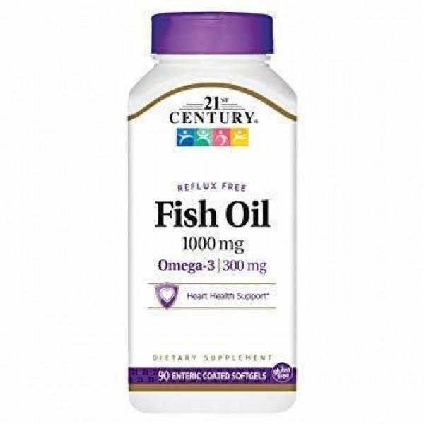 Риб'ячий жир, Fish Oil, 21st Century, 1000 мг, 90 капсул