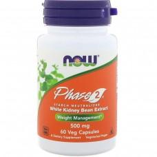 Біла Квасоля Фаза 2, Phase 2, Now Foods, 500 мг, 60 капсул