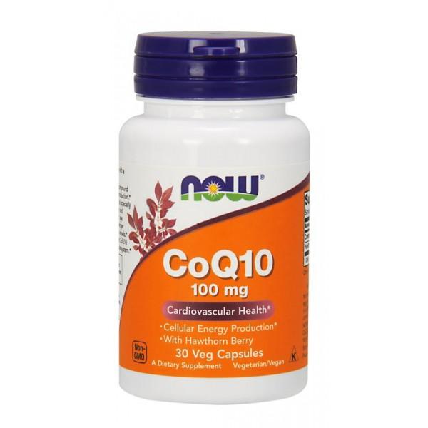 Коензим Q10, Coenzyme Q10, Now Foods, 100 мг, 30 капсул
