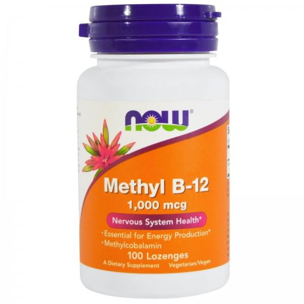 Вітамін В12, Methyl B-12, Now Foods, метил, 1000 мкг, 100 льодяників