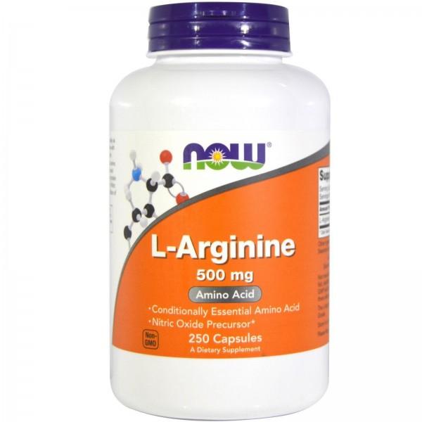 Аргінін, L-Arginine, Now Foods, 500 мг, 250 капсул