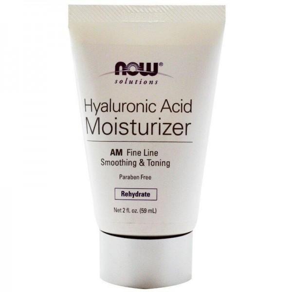 Крем зволожуючий з гіалуронової кислотою, Hyaluronic Acid Moisturizer, Now Foods, Solutions, 59мл