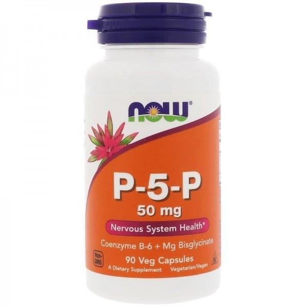 P-5-P піридоксаль-5-фосфат, Now Foods, 50 мг, 90 капсул