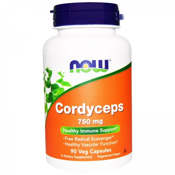 Кордицепс (Cordyceps), Now Foods, 750 мг, 90 капсул